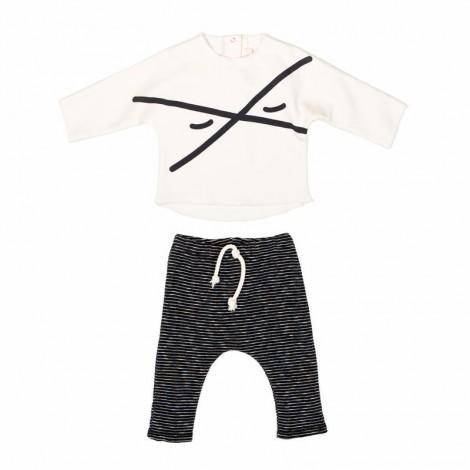 Conjunto camiseta y pantalón ROBINSON bebé en MILK