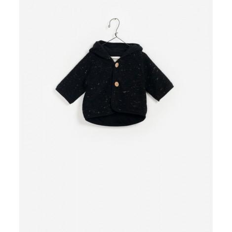 Chaqueta tricot con capucha en ANT