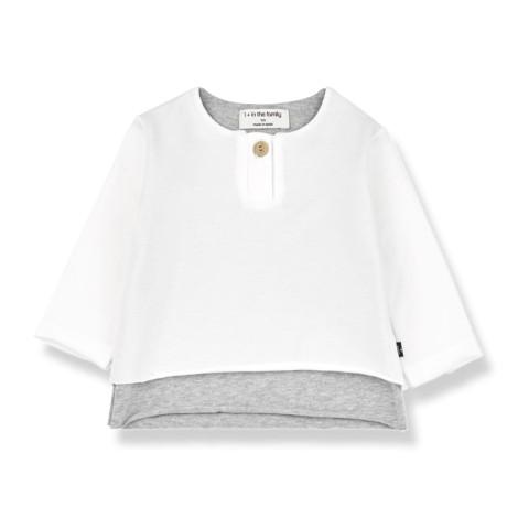 Camiseta bebé ANTON manga larga en BLANCO