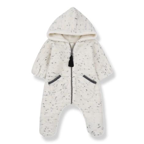 Abrigo buzo bebé BERGEN polar bolsillos en CRUDO