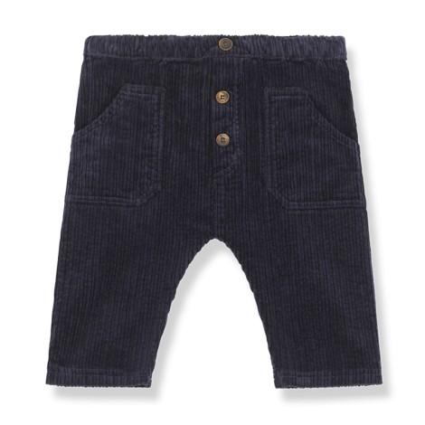 Pantalones bebé BOCHUM pana regular en AZUL OSCURO