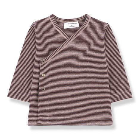 Camiseta bebé jubón BRUXELLES en ROSA BURGUNDY