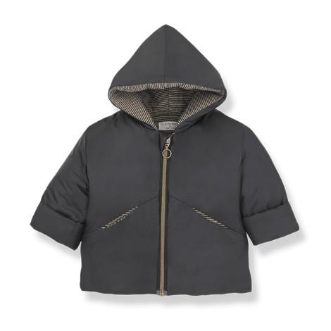 Abrigo chaqueta bebé LAVAL en NEGRO-BEIGE