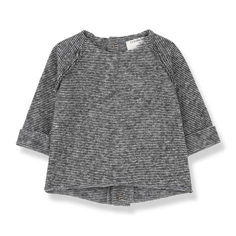 Camiseta jersey bebé MANTUA en NEGRO-BLANCO