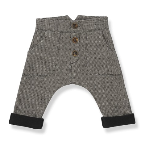 Pantalón bebé PRATO tejido forrado en BEIGE
