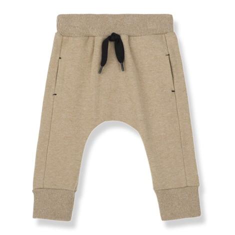 Pantalón bebé ROUEN bolsillos soft en BEIGE