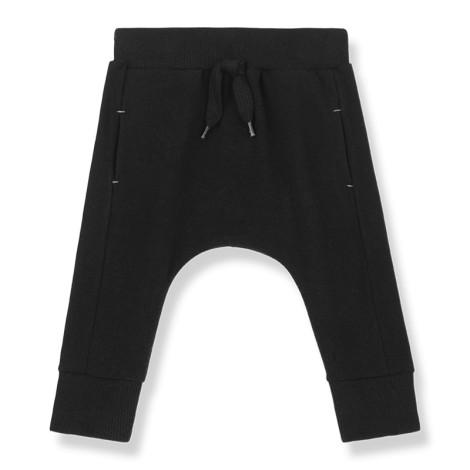 Pantalón bebé ROUEN bolsillos soft en NEGRO