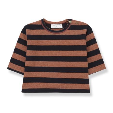 Camiseta bebé VIENNA soft M/L en CALDERA-BLUE
