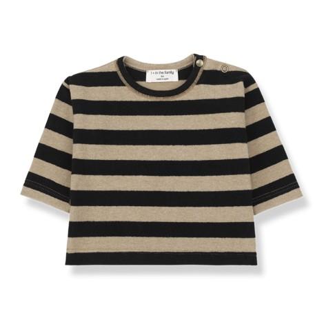 Camiseta bebé VIENNA soft M/L en NEGRO-BEIGE