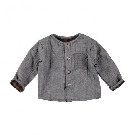 Camisa bebé SIMON cuello mao en GREY VIGO