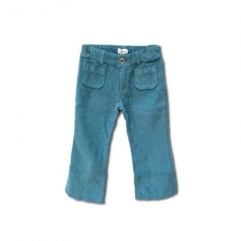 Pantalón pana niña LILA bolsillos en GREEN FOREST