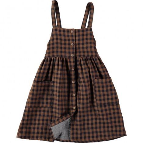 Vestido peto niña LAURA abotonado en VICHY