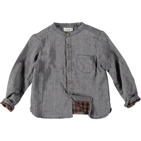 Camisa niño HARVEY cuello mao en GREY VIGO