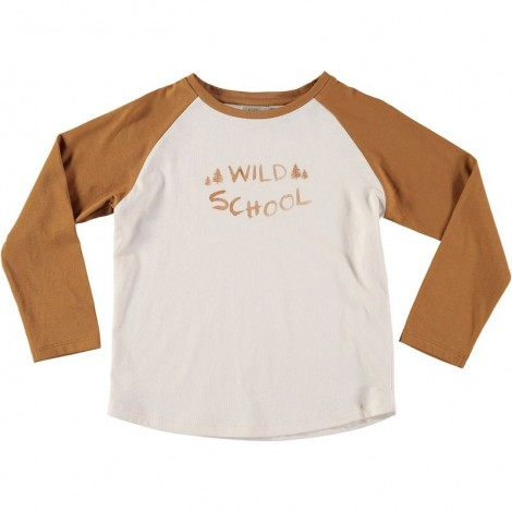 "Camiseta infantil LOUIS ""WILD SCHOOL"" en CURRY"