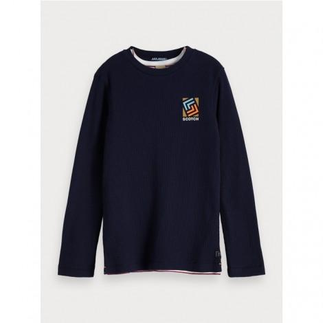 Camiseta niño 2 en 1 SCOTCH azul y rayas