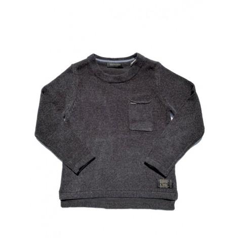 Jersey pullover niño ROCKER gris bolsillo