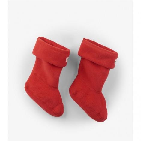 Calcetín infantil forro polar ROJO para botas agua