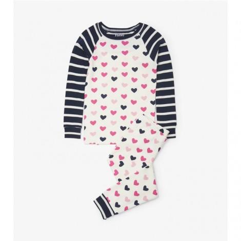 Pijama niña LOVELY HEARTS corazones en orgánico