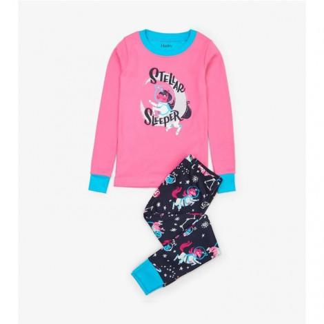 Pijama niña SPACE UNICORN fluorescente orgánico