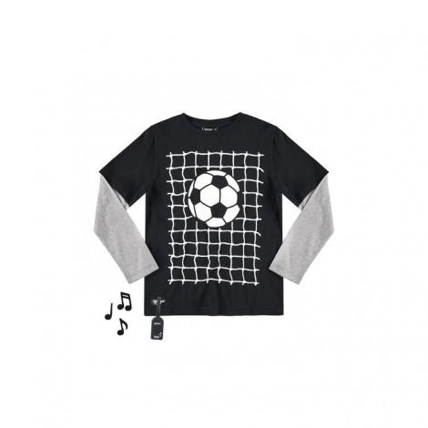 Camiseta infantil sonido GOAL simula 2 en 1 de M/L