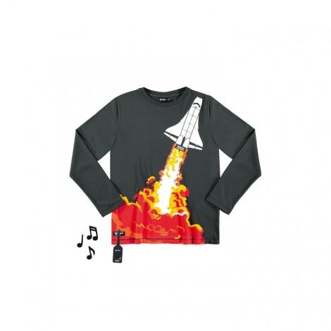Camiseta infantil SPACE ROCKET sonido cohete M/L