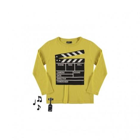 Camiseta infantil sonido CLAPPER M/L amarilla
