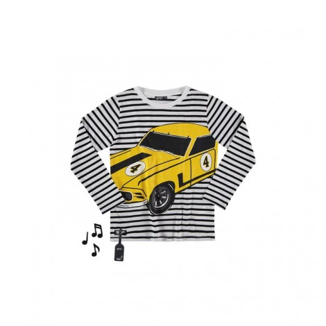 Camiseta infantil sonido CLASSIC CAR V8 M/L rayas