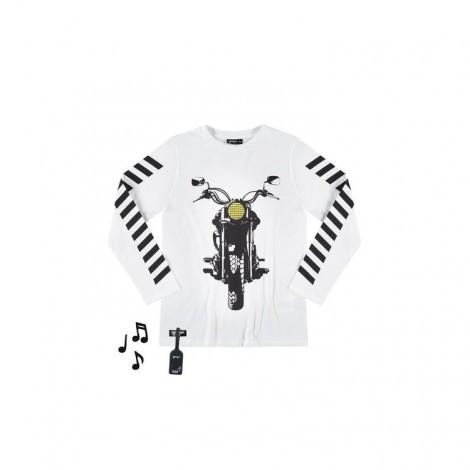 Camiseta infantil sonido MOTORBIKE M/L crudo