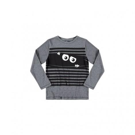 Camiseta infantil fluorescente PEEKABOO M/L gris