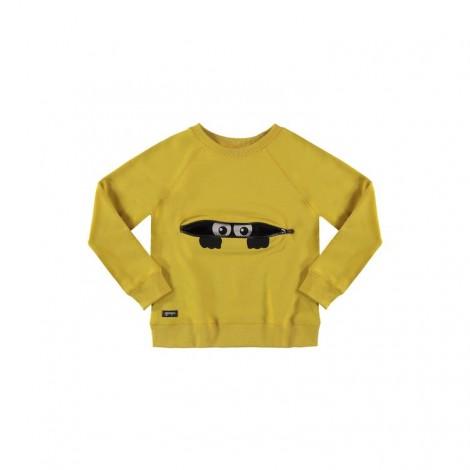 Sudadera infantil PEEKABOO ZIPPER amarilla