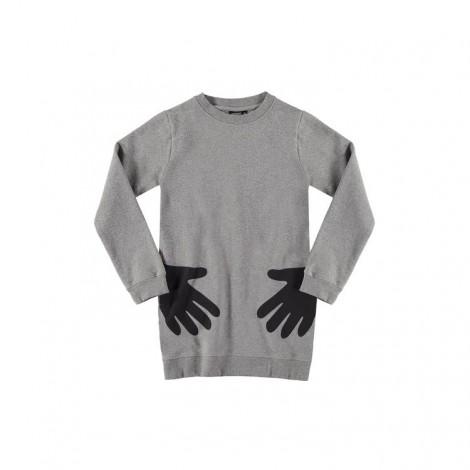 Vestido niña HANDS SWEAT tipo sudadera con manos