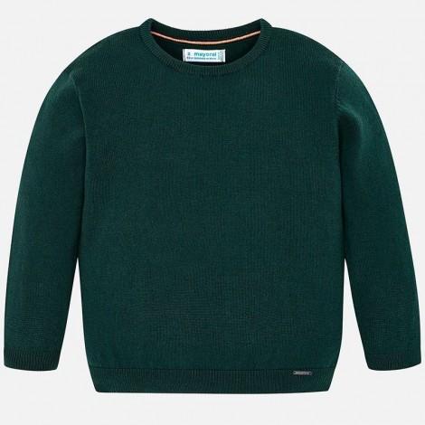Jersey niño algodón cuello redondo color Billar