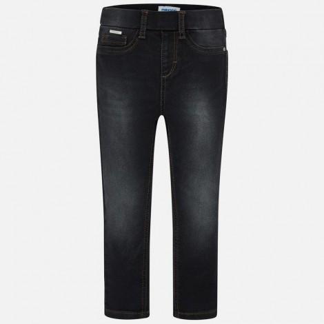 Pantalón niña cerrado tejano color Negro