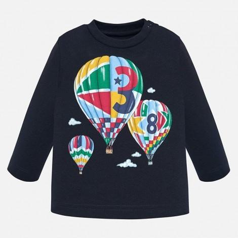 Camiseta bebé m/l globos color Universo