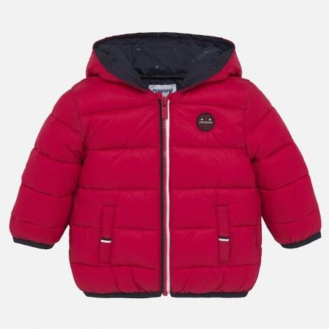 Chaquetón bebé acolchado ligero color Rojo