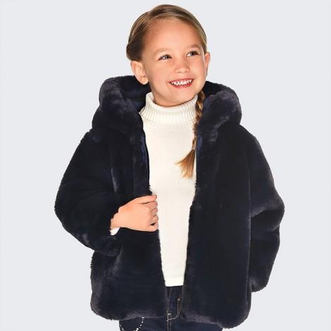 Chaquetón anorak niña reversible pelo color Marino