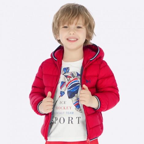 Chaquetón niño anorak ligero color Rojo