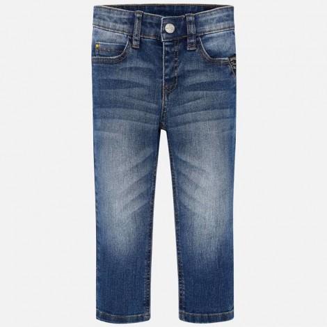 Pantalón tejano niño slim fit color Básico