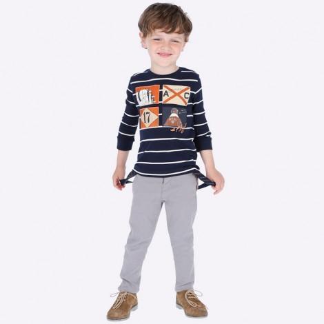 Pantalón tirantes niño piqué color Roca