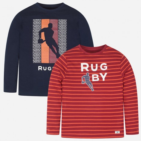 Set 2x1 camisetas niño rugby m/l color Eclipse