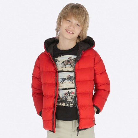 Anorak niño tipo plumón ligero color Rojo