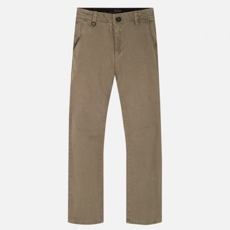 Pantalón chino largo slim fit niño color Nutria