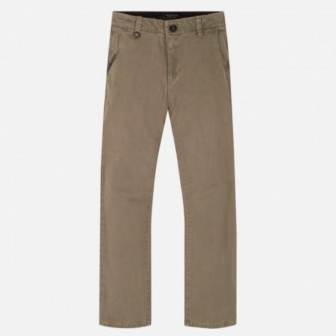 Pantalón chino largo slim fit niño color Nutria