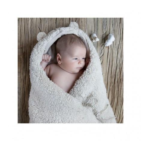 Saco bebé TEDDY MOUTON en suave borrego y orejas