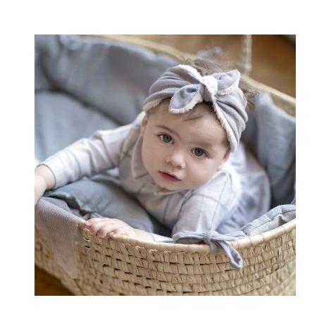 Vestidura cesto capazo recién nacido grey powder