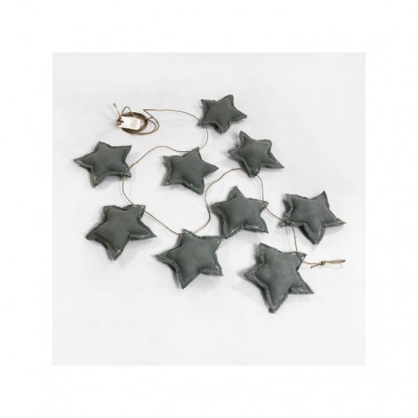 Banderola STAR grey powder decoración bebé