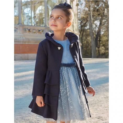 Vestido tul con lunares glitter color Celeste