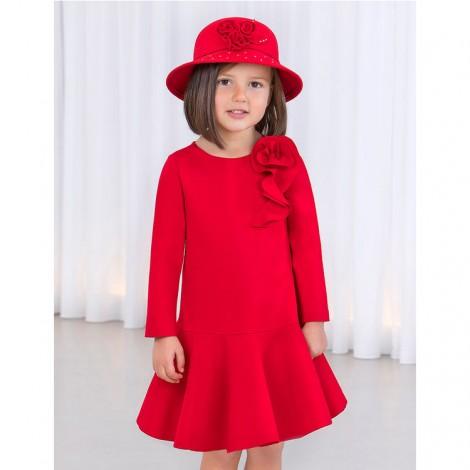 Vestido niña punto roma color rojo