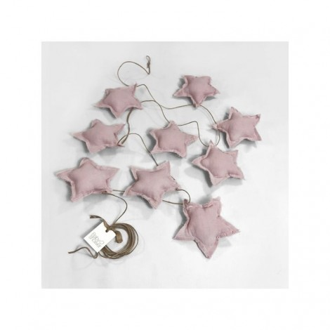 Banderola STAR rose powder decoración bebé