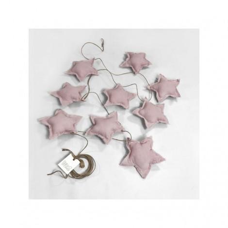 Banderola STAR rose powder decoración bebé